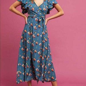 Anthropologie Marianne Silk Wrap Dress